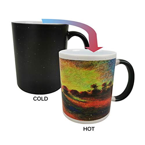 LYX Morphing Mugs Vincent Van Gogh Heat Reveal Ceramic Coffee Mugs- Vincent Van Gogh Art ceramics -