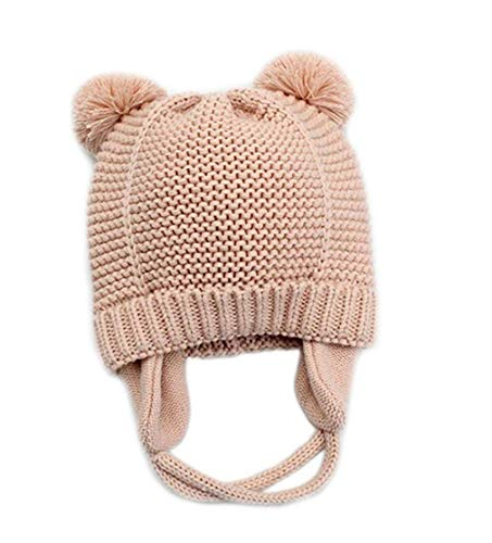 805d8e1a90b Amazon.com  YOUYAN Baby Hat Earflaps Cap Boys Girls Knit Beanie Soft Warm  Fall Winter for Infant Toddler with Fleece Lining  Clothing