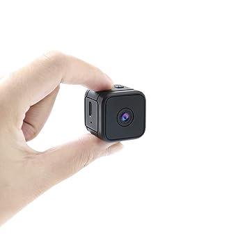 KOMETA Mini cámara portátil, Wi-Fi inalámbrica pequeña cámara con ...