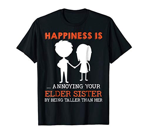 Funny Sibling Gift for Little Brother Shirt Lil Sister Shirt