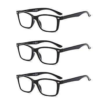 Sonderteil Niedriger Verkaufspreis Fabrik authentisch Suertree Feder Scharnier (3 Pack) Lesebrillen Sehhilfe Augenoptik Brille  Lesehilfe für Damen Herren von BM151 2.5x