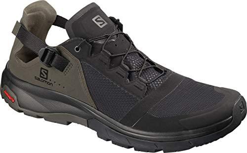 Salomon Men's Techamphibian 4 Athletic Water Shoes, Black/Beluga/Castor Gray, 10