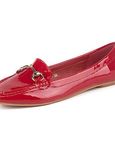 PDX/ Damenschuhe - Ballerinas - Kleid / Lässig - Kunstleder - Flacher Absatz - Komfort / Rundeschuh / Geschlossene Zehe -Schwarz / Rosa / Rot gray-us5.5 / eu36 / uk3.5 / cn35