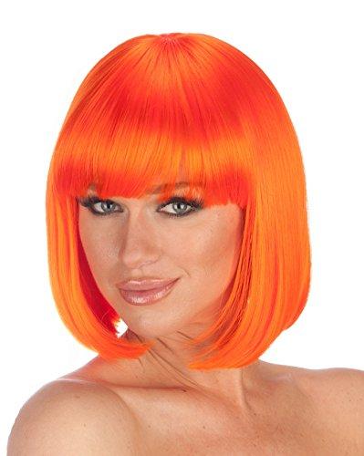 Premium Quality Bob Wig - Orange -