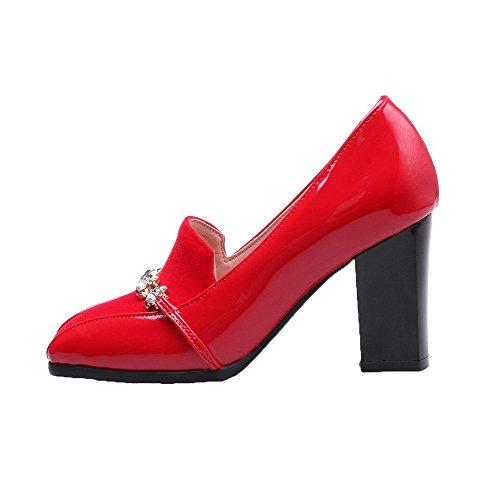 Tire Légeres Unie Chaussures Carré Couleur Rouge fibre Aalardom Super Femme qYxn88tP