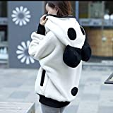 Meikosks Women Winter Warm Hoodie Coat Cute Bear