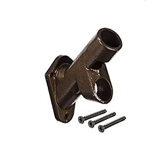 Evergreen Flag Two-Position Cast Iron Bronze Flag Pole Bracket for Your Flag Poles, Flag Pole Hardware for The Home, Patio, Lawn, Yard Weather Safe and Durable