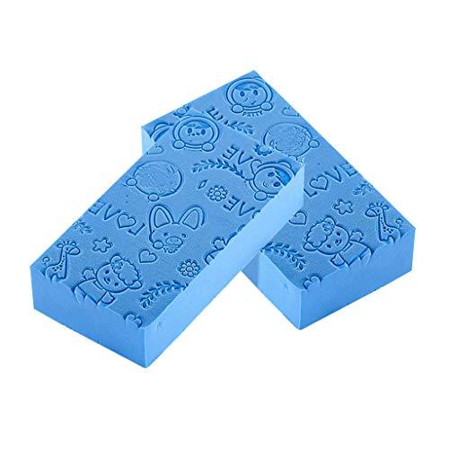 Vansee❤❤Adult Kid Soft Exfoliating Body Skin Bath Shower Spa Brush Washing Sponge Pad : Shower : Faucets : Bath (Blue)