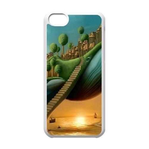 Surreal Stairways L coque iPhone 5c cellulaire cas coque de téléphone cas blanche couverture de téléphone portable EEECBCAAN07327