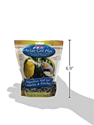 Brown\'s Avian Grit Plus Digestive Aid for Finches and Canaries with Licorice Scent, 20-Ounce