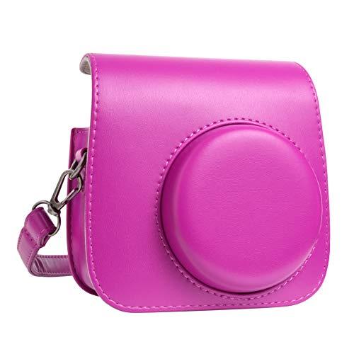 QUEEN3C Mini 9 Camera Case Bag for Fujifilm Instax Mini 9 Mini 8 Mini 8+ Instant Camera. (Purple)