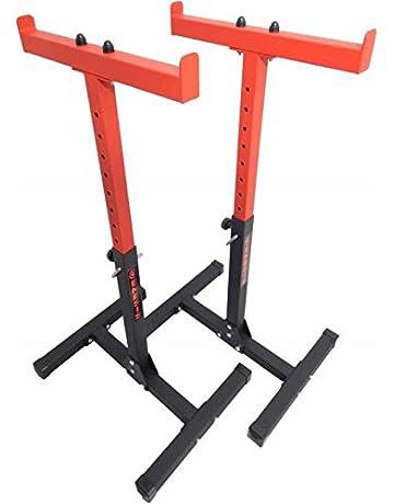 Supporto per Bilanciere con Manubrio in Acciaio SOULONG Supporto per Manubri Rastrelliera Pesi Rastrelliera per Dischi ed aste bilanciere Fino a 300 kg 49 x 100 x 95cm