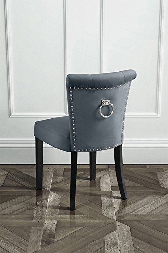 MY Furniture High Quality Upholstered Buttoned Dining Chair With Back Ring