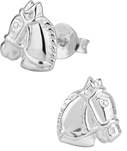 Hypoallergenic Sterling Silver Horse Stud Earrings for Kids (Nickel Free)