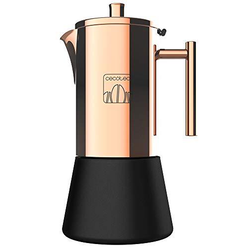 Cecotec Cafetera Italiana Moking 1000. Fabricada en Acero INOX, Apto para Cocinas de Gas, Eléctrica o Vitrocerámica…