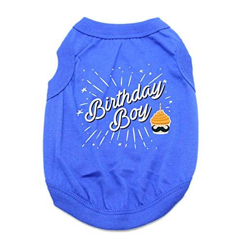 Birthday Boy Dog Shirt - Blue (Large)