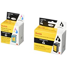 KODAK Remanufactured Ink Cartridge Combo Pack Compatible With HP 96 / 97 (C9353FN#140) High-Yield Black and Tri-Color