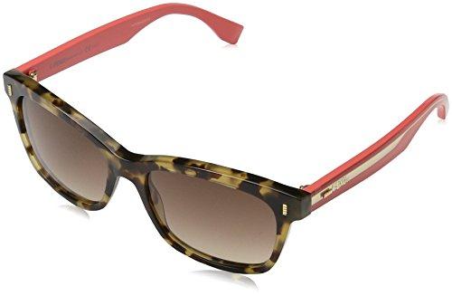 Fendi 0086 HK3 Havana Cherry 0086S Wayfarer Sunglasses Lens Category 2