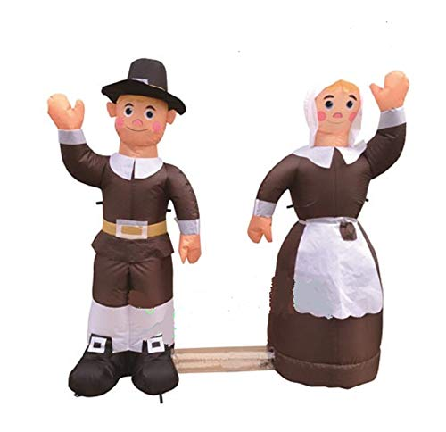 Holiday 4 ft Inflatable Airblown Thanksgiving Pilgrim Amish