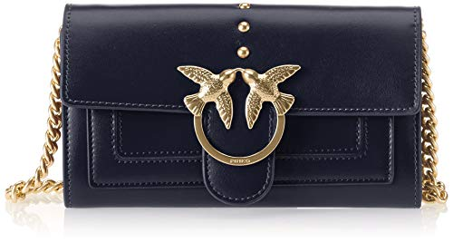 Aliboni Blu Pinko Shoulder Blue Vitello Wallet Iride Women's Seta With Clutch OOr5R