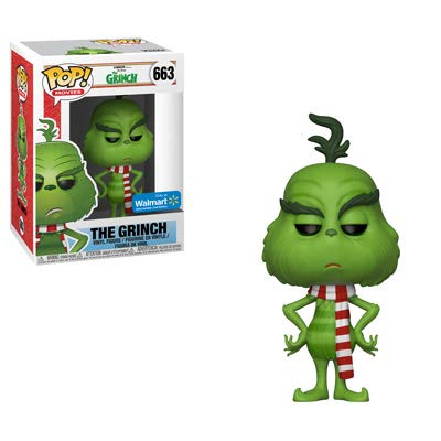 POP Funko Movies 663 The Grinch with Scarf Exclusive Vinyl Figure -