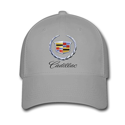 HOIUK Cadillac Logo 2016 Nice Baseball Caps For Everyone Gray hats ()