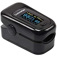 Sahyog Wellness Fingertip OLED Type Pulse Oximeter measures Oxygen Saturation, Pulse Rate (SpO2) & Perfusion Index (Black)
