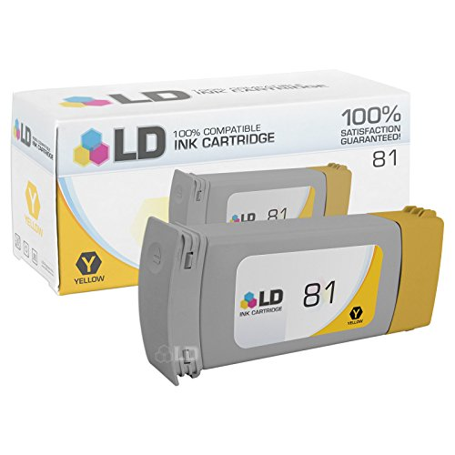LD Remanufactured Ink Cartridge Replacement for HP 81 C4933A (Yellow)