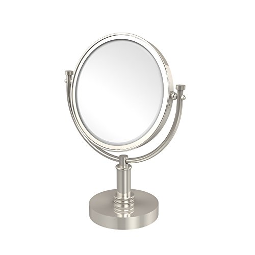 Allied Brass DM-4D/3X-PNI 8 Inch Vanity Top Make-Up Mirror 3X Magnification Polished Nickel