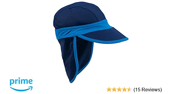 78d780b7a41 Amazon.com  Navy Blue Baby Sun Hat with UPF50 Sun Protection by Sun Smarties