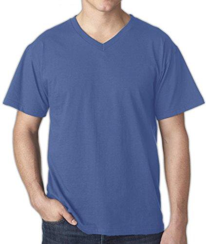 Falcon Bay Big Men's Cotton V-Neck T-Shirt Blue 6XL - Falcon Bay Big And Tall T-shirt