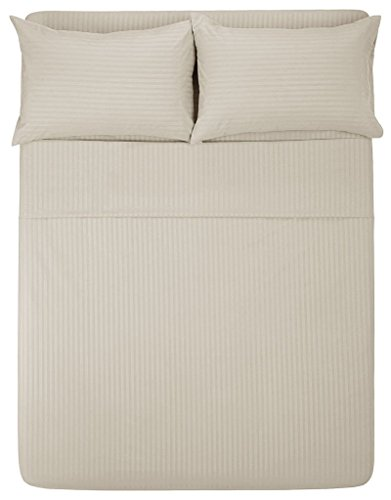 Exotic Bedware 1800 Series Brushed Microfiber Full Size Sleeper Sofa Sheet Set 54 X 72 X 6 Deep Stripe Beige
