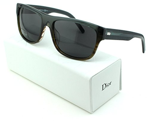 Dior Black Tie 175/S Square Unisex Sunglasses (Grey Havana Frame, Grey Gradient Lens - Men Glasses Dior