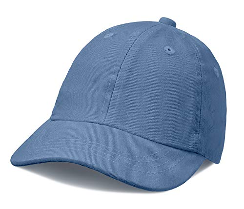 City Threads Baby Solid Baseball Hat Sun Protection SPF Beach Summer - Denim Blue - -