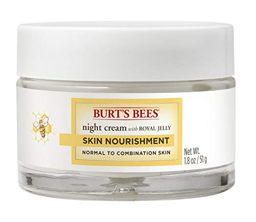 Skin Care Rejuvenating Moisture Cream - Burt's Bees Skin Nourishment Night Cream for Normal to Combination Skin – 1.8 Ounces