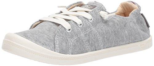 Roxy Women's Bayshore Slip On Shoe Fashion Sneaker, Light Grey, 7.5 M US