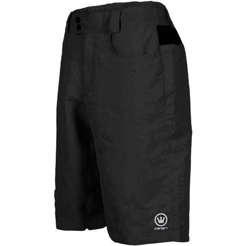 Canari Cycling Gel Liner Short - Canari Atlas Gel Baggy cycling Shorts, Black, X-Large