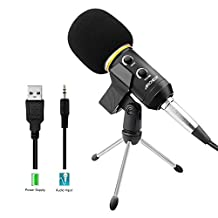 USB Microphone, ARCHEER Recording Microphone with Stand Professional Condenser Sound Podcast Studio Broadcasting Microphone for Computer PC Laptop