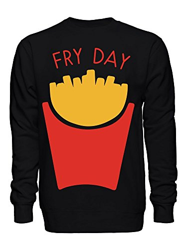 Friday is Fry Day French Fries Frites Fritten Unisex Crew Neck Sweatshirt
