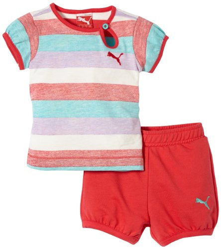 Puma Basic Girls - Conjunto deportivo para bebé blanco