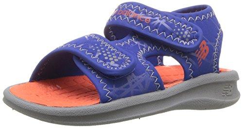 (New Balance Unisex Sport Sandal, Grey/Blue/Orange, P2 M US Little Kid)