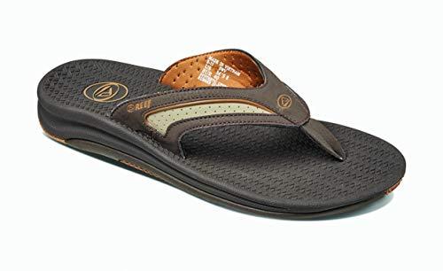 REEF Men's Sandals | Flex, Dark Brown/Tan, 11