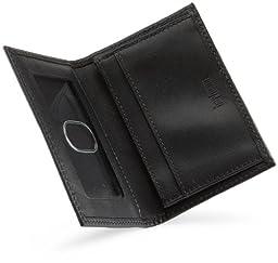 Hartmann Luggage Capital Leather Card Case,Black,One Size