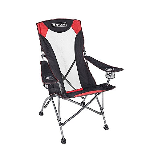 Heavy Duty Folding Chair Big Boy Mesh High Back Durable Comfortable Oversized /W Carrying Case Included Perfect for Any Outdoor Activities Fishing Camping Hiking (Chair Craftsman)