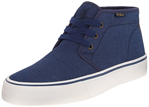 Polo Ralph Lauren Mens Maykn Fashion Sneaker Dark Indigo / Polo Tan