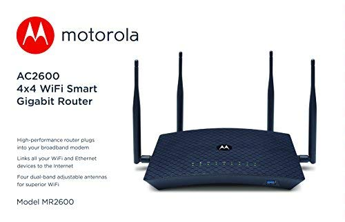 MOTOROLA AC2600 4x4 WiFi Smart Gigabit Router with Extended Range, Model  MR2600