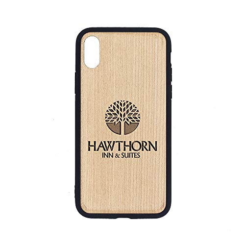 Logo Hawthorn INN SUITES - iPhone Xs Case - Maple Premium Slim & Lightweight Traveler Wooden Protective Phone Case - Unique, Stylish & Eco-Friendly - Designed for iPhone Xs