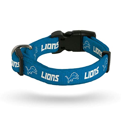 Rico Detroit Lions NFL (MediumAdjustable14-20 inch)NylonPet DogCollar