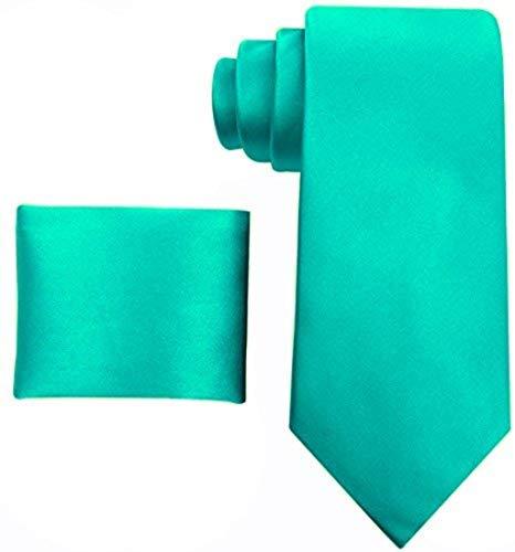 60b2ca123928 Solid Ties for Men - Silk Necktie + Pocket Square - Mens Ties Neck Tie