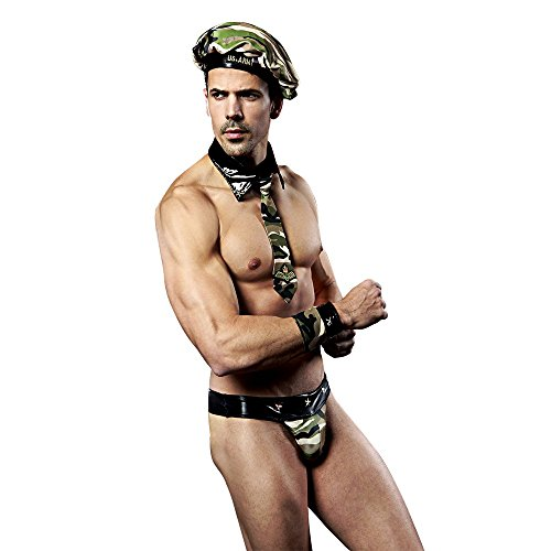 [Boudoir Fun Men Sexy Role Playing Army Suit For Couple] (Mens Bedroom Costumes)